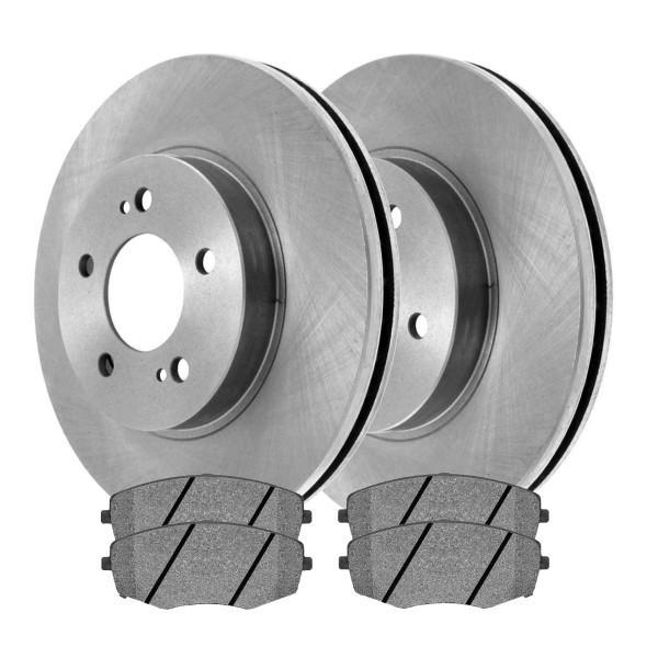 [Front Set] 2 Brake Rotors & 1 Set Ceramic Brake Pads - Part # SCD1397-R41429LR
