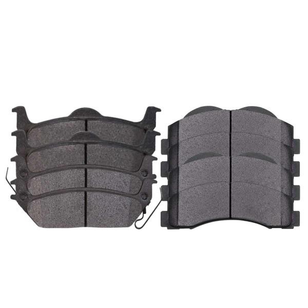 Front and Rear Ceramic Brake Pad Bundle - Part # SCD1414-1012