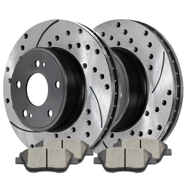 Front Ceramic Brake Pad and Performance Rotor Bundle - Part # SCD1444PR41429
