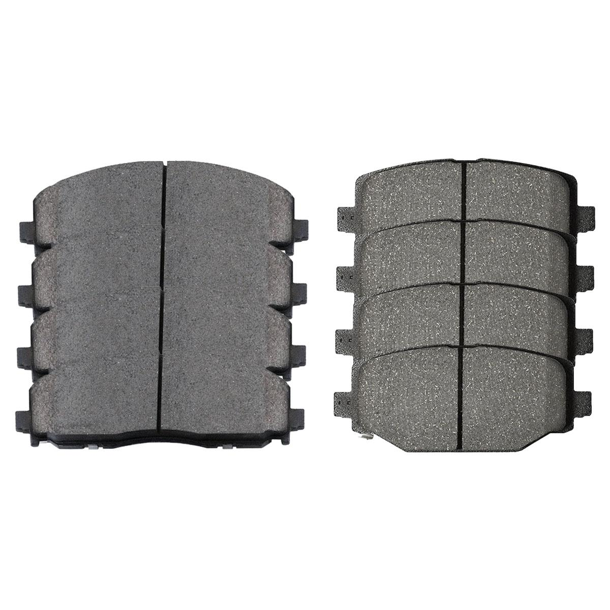 Prime Choice Auto Parts SCD1589-1596 Premium Front /& Rear Ceramic Disc Brake Pads 2 Full Complete Sets 4 Pairs 8 Pads