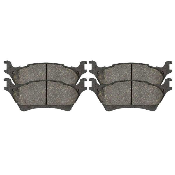 Rear Ceramic Brake Pad Set - Part # SCD1602