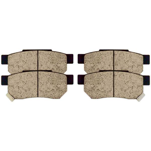 Front and Rear Ceramic Brake Pad Bundle - Part # SCD374-273