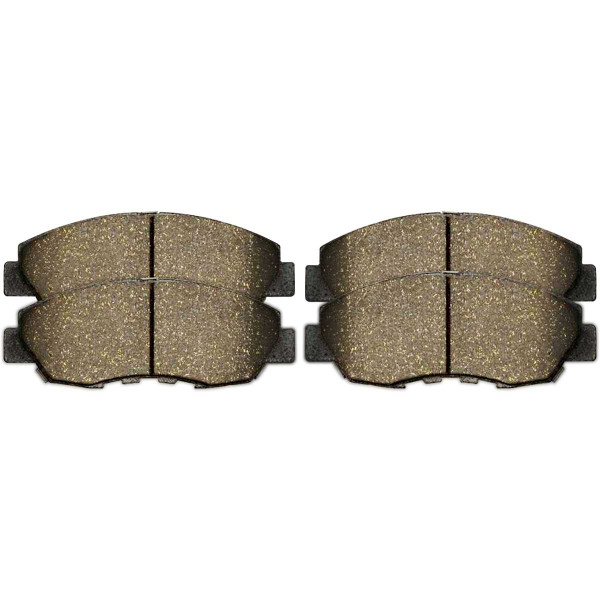 Front and Rear Ceramic Brake Pad Bundle 4 Wheel Disc - Part # SCD465-537