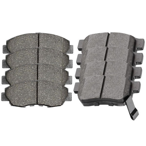 Front and Rear Ceramic Brake Pad Bundle 4 Wheel Disc - Part # SCD465A-374