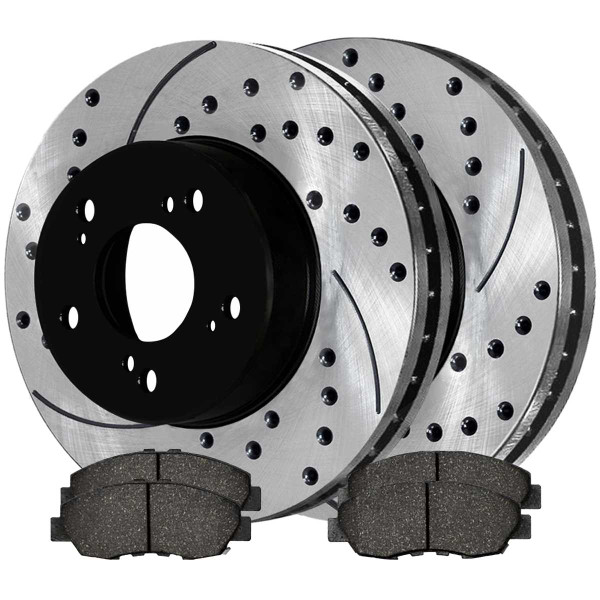 Front Ceramic Brake Pad and Performance Rotor Bundle - Part # SCD465PR41313