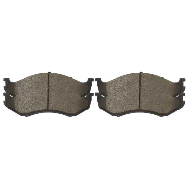 Front and Rear Ceramic Brake Pad Bundle 4 Wheel Disc - Part # SCD477-981
