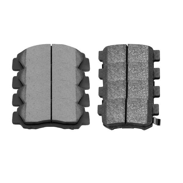 Front and Rear Ceramic Brake Pad Bundle 4 Wheel Disc - Part # SCD503-537