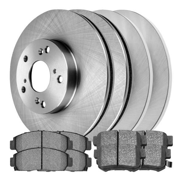 [Front & Rear Set] 4 Brake Rotors & 2 Sets Ceramic Pads - Part # SCD5374855