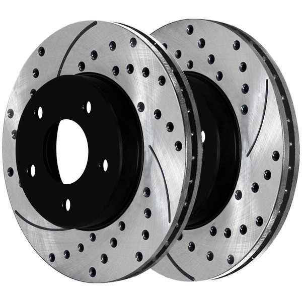 Front and Rear Ceramic Brake Pad and Performance Rotor Bundle - Part # SCD627PR64013