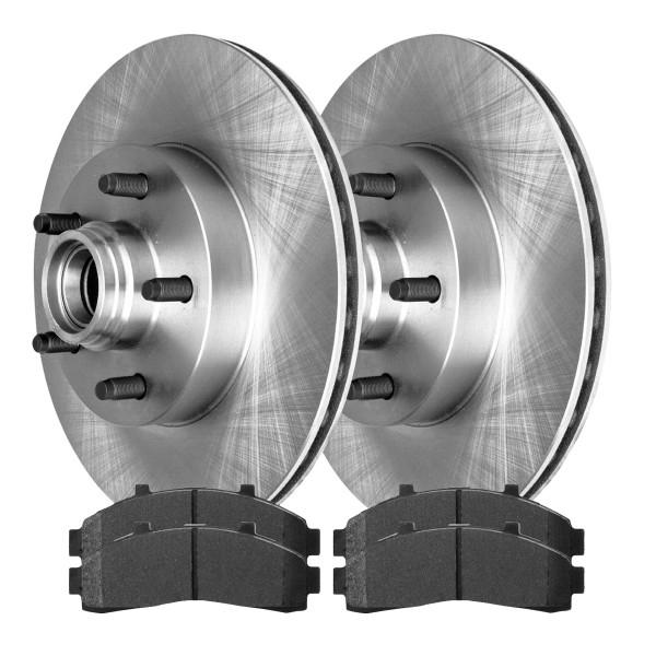 [Front Set] 2 Brake Rotors & 1 Set Ceramic Brake Pads - Part # SCD652-R64031