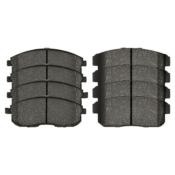 Front and Rear Ceramic Brake Pad Bundle 4 Wheel Disc - Part # SCD653-900