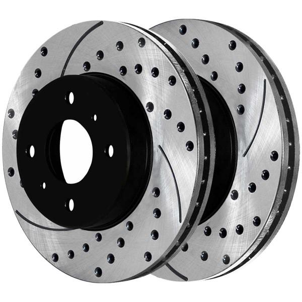 Front Ceramic Brake Pad and Performance Rotor Bundle - Part # SCD653-PR41123LR