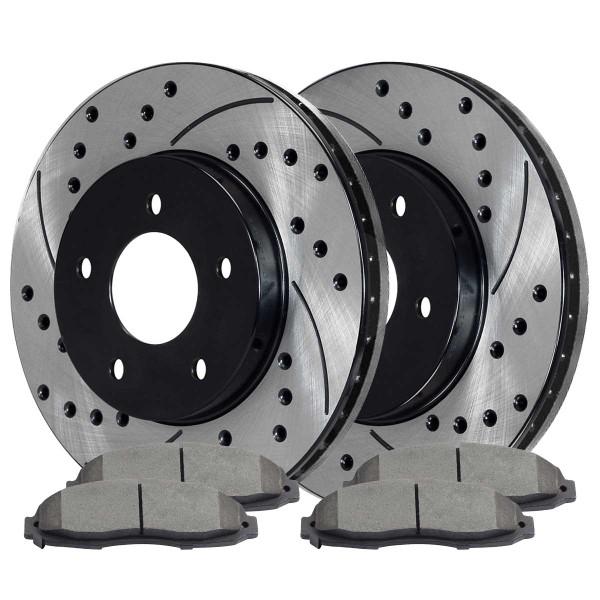 Front Ceramic Brake Pad and Performance Rotor Bundle 5 Stud 4WD - Part # SCD679PR64044