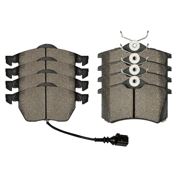 Front and Rear Ceramic Brake Pad Bundle 4 Wheel Disc - Part # SCD687A-340