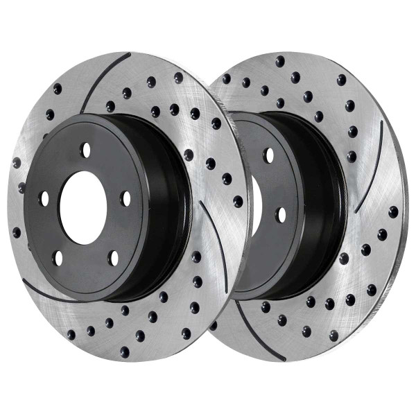 Front and Rear Ceramic Brake Pad and Performance Rotor Bundle - Part # SCD698PR65036