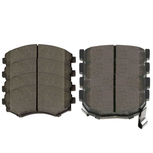 Front and Rear Ceramic Brake Pad Bundle 4 Wheel Disc - Part # SCD700-323A