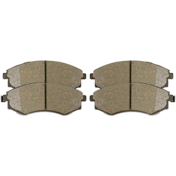 Front and Rear Ceramic Brake Pad Bundle 4 Wheel Disc - Part # SCD700-813