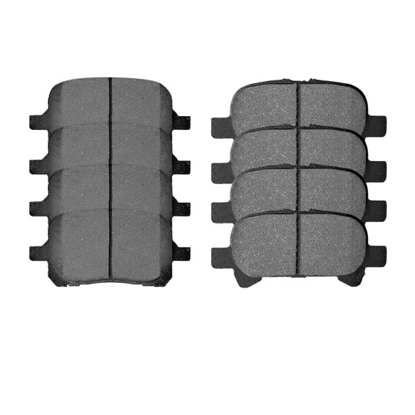 Front and Rear Ceramic Brake Pad Bundle 4 Wheel Disc - Part # SCD707-828