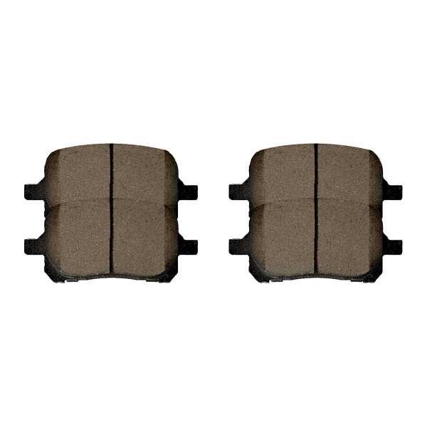 Front and Rear Ceramic Brake Pad Bundle - Part # SCD707-835