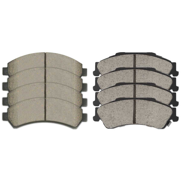 Front and Rear Ceramic Brake Pad Bundle 4 Wheel Disc - Part # SCD726-729