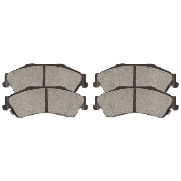 Front and Rear Ceramic Brake Pad Bundle 4 Wheel Disc - Part # SCD726-729