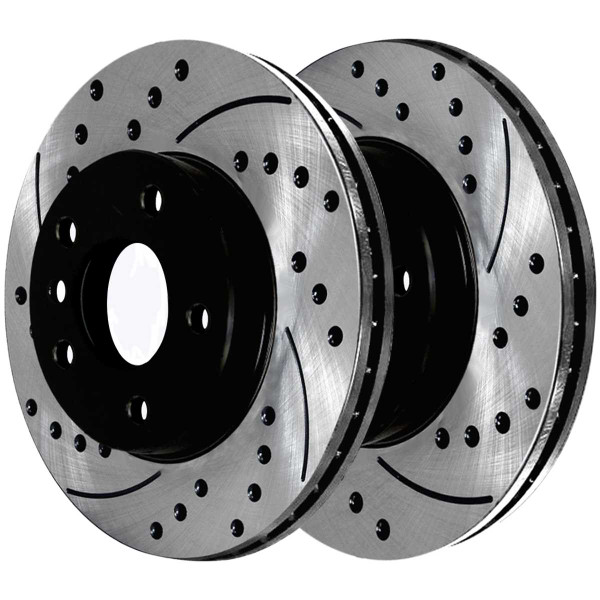 Front and Rear Ceramic Brake Pad and Performance Rotor Bundle - Part # SCD763PR44175