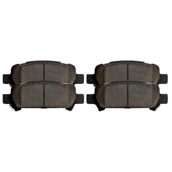 Rear Ceramic Brake Pad Set 4 Wheel Disc - Part # SCD770