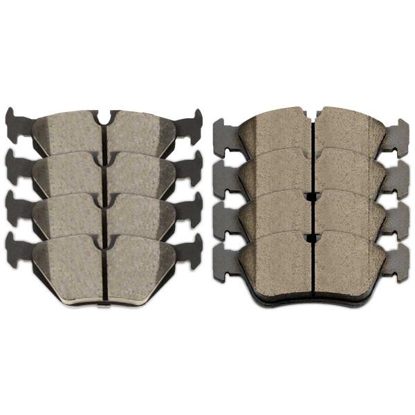 Front and Rear Ceramic Brake Pad Bundle - Part # SCD781-396