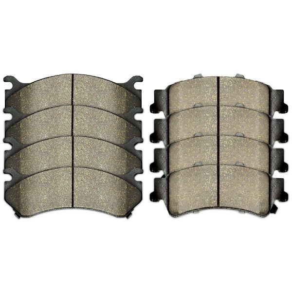Front and Rear Ceramic Brake Pad Bundle - Part # SCD784-792