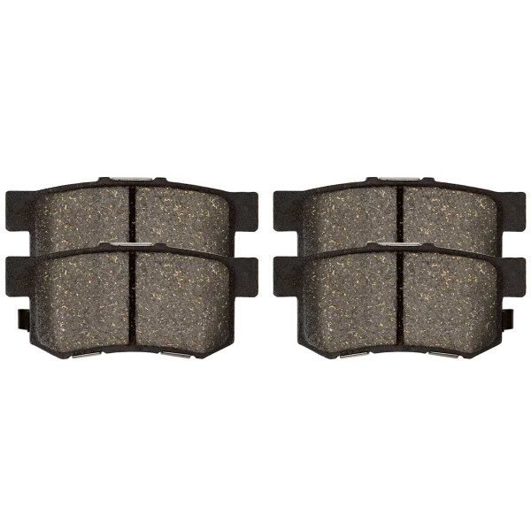 Front and Rear Ceramic Brake Pad Bundle 4 Wheel Disc - Part # SCD787-537