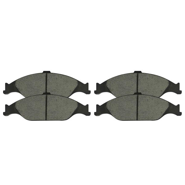Front Ceramic Brake Pad Set - Part # SCD804