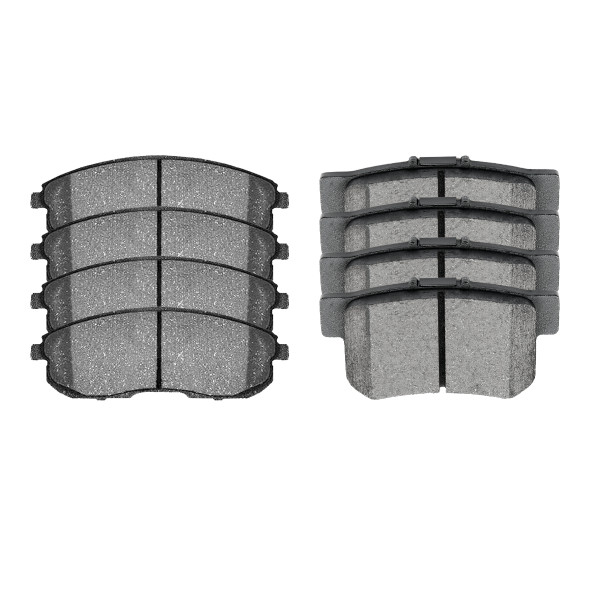 Front and Rear Ceramic Brake Pad Bundle 4 Wheel Disc - Part # SCD815A-537