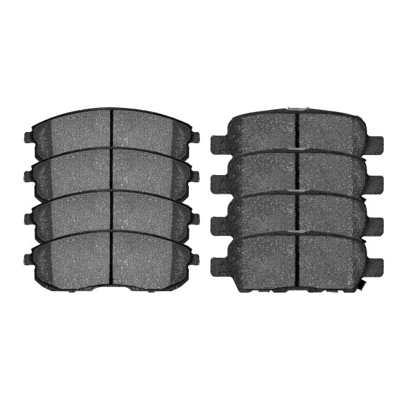 Front and Rear Ceramic Brake Pad Bundle 4 Wheel Disc - Part # SCD815A-905
