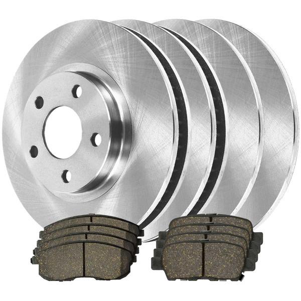 [Front & Rear Set] 4 Brake Rotors & 2 Sets Ceramic Brake Pads - Part # SCD815A4675