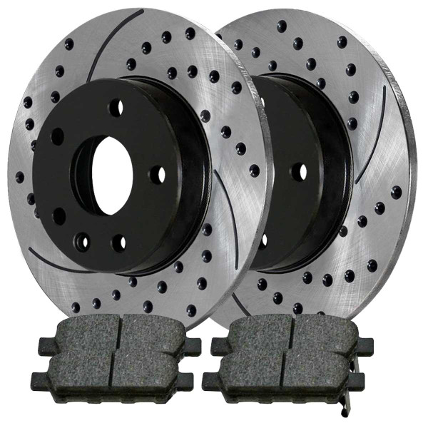 Front and Rear Ceramic Brake Pad and Performance Rotor Bundle - Part # SCD815PR14308
