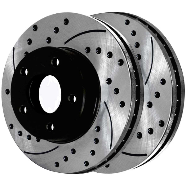 Front and Rear Ceramic Brake Pad and Performance Rotor Bundle - Part # SCD815PR41314