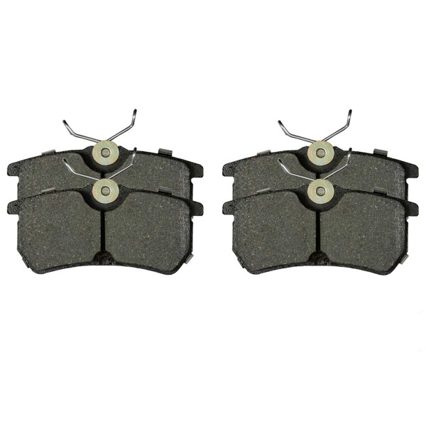 Front and Rear Ceramic Brake Pad Bundle 4 Wheel Disc - Part # SCD816-886