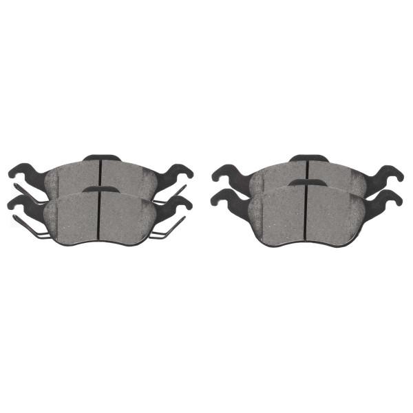 Front Ceramic Brake Pad Set - Part # SCD816
