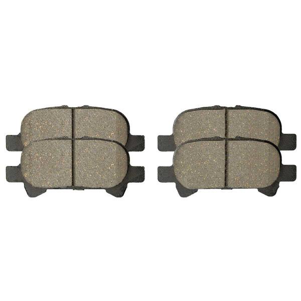Rear Ceramic Brake Pad Set 4 Wheel Disc - Part # SCD828