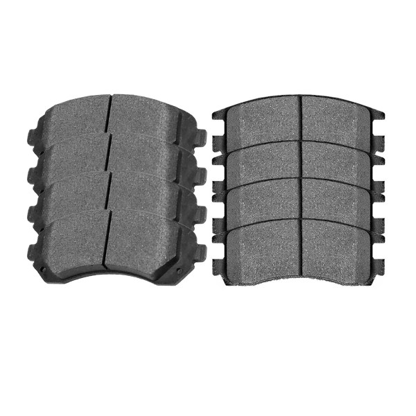 Front and Rear Ceramic Brake Pad Bundle 4 Wheel Disc - Part # SCD844-698