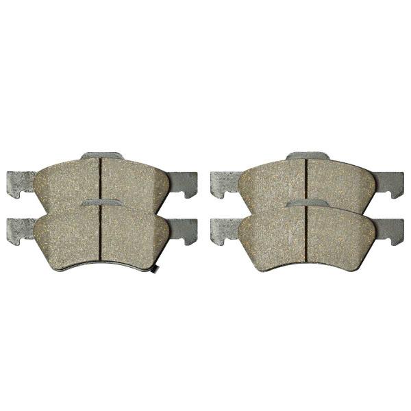 Front Ceramic Brake Pad Set - Part # SCD857
