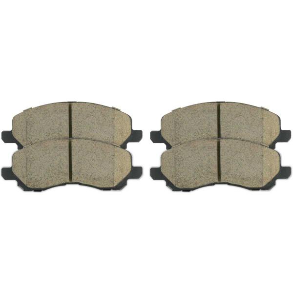 Front and Rear Ceramic Brake Pad Bundle 4 Wheel Disc - Part # SCD866-868