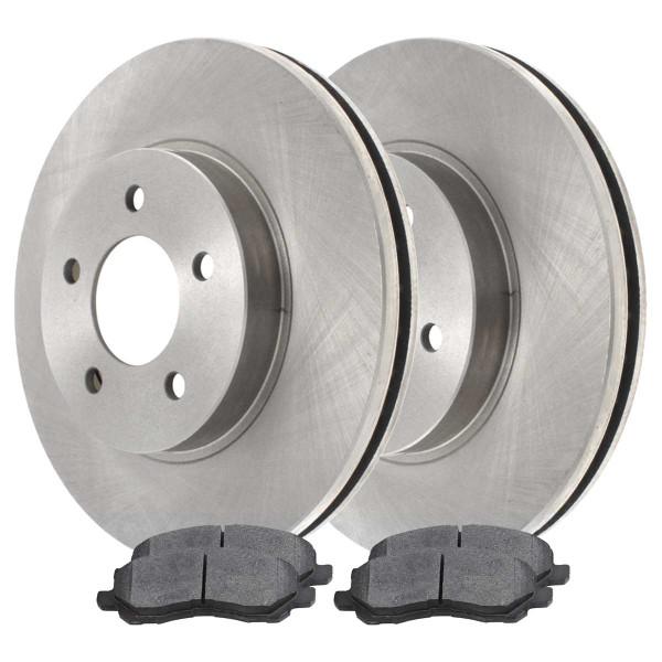 Front Ceramic Brake Pad and Rotor Bundle 10.86 Inch Rotor Diameter - Part # SCD866-R63039