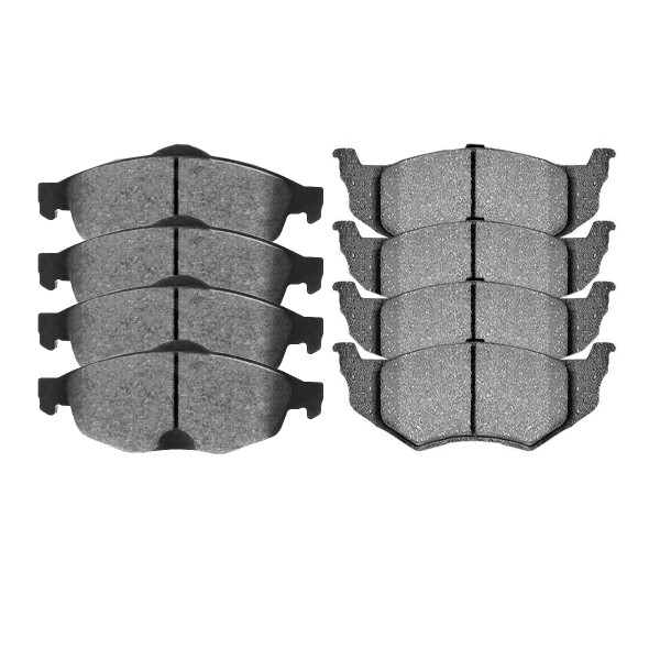 Front and Rear Ceramic Brake Pad Bundle 4 Wheel Disc - Part # SCD869-658