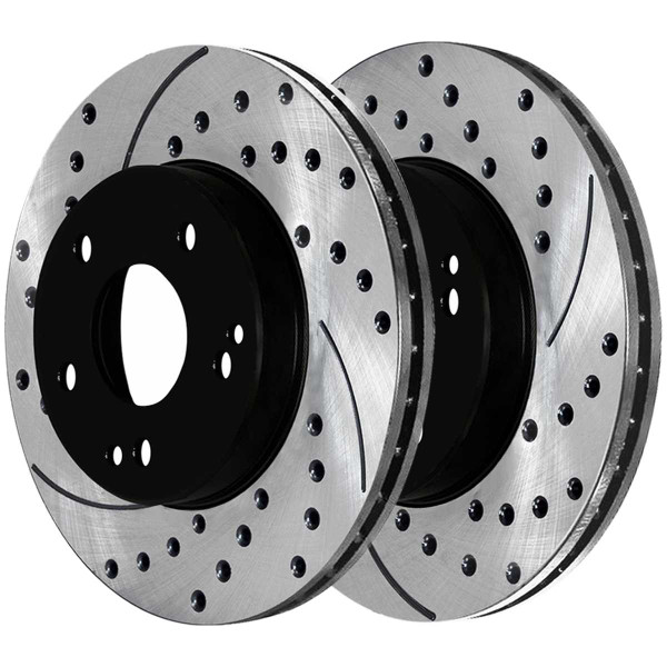 Front and Rear Ceramic Brake Pad and Performance Rotor Bundle - Part # SCD872PR44102