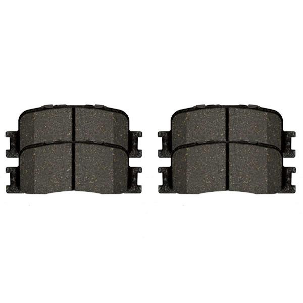 Front and Rear Ceramic Brake Pad Bundle - Part # SCD884-885