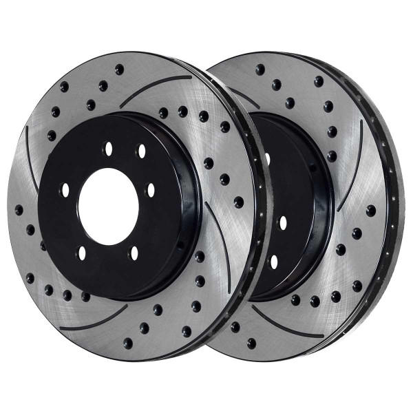 Front and Rear Ceramic Brake Pad and Performance Rotor Bundle - Part # SCD905PR41377
