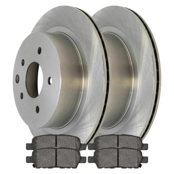 [Rear Set] 2 Brake Rotors & 1 Set Ceramic Brake Pads - Part # SCD905R41351