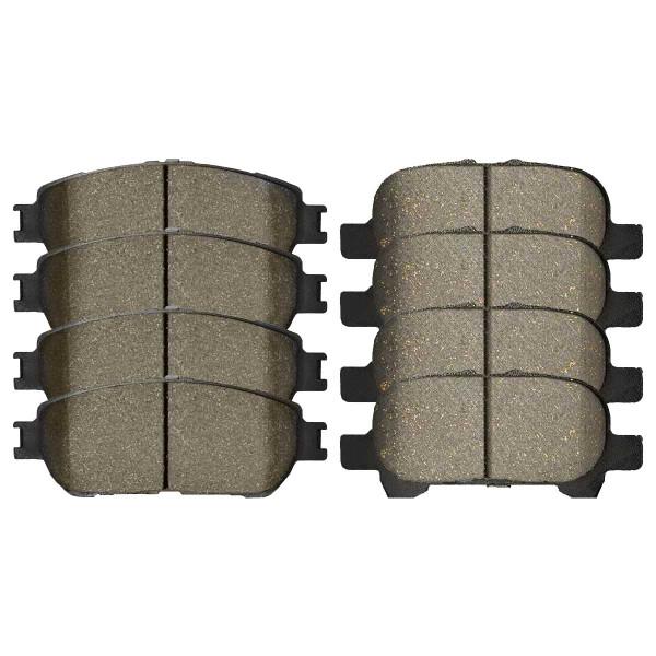 Front and Rear Ceramic Brake Pad Bundle 4 Wheel Disc - Part # SCD906-828