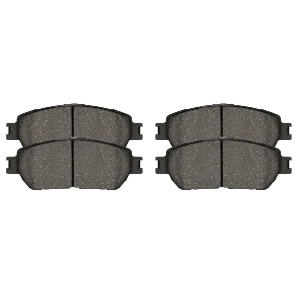 Front and Rear Ceramic Brake Pad Bundle 4 Wheel Disc - Part # SCD906-885